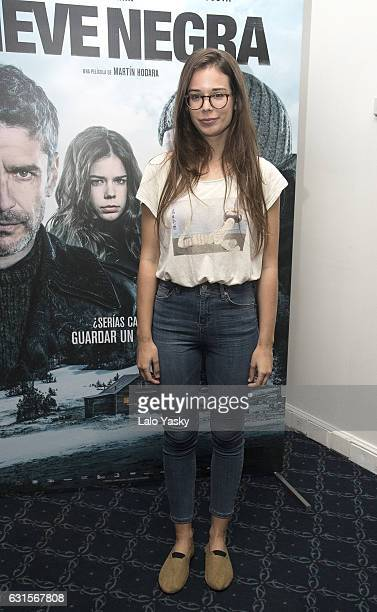 Laia Costa attends a press conference for 'Nieve Negra' at the Dazzler San Martin Hotel on January 12 2017 in Buenos Aires Argentina