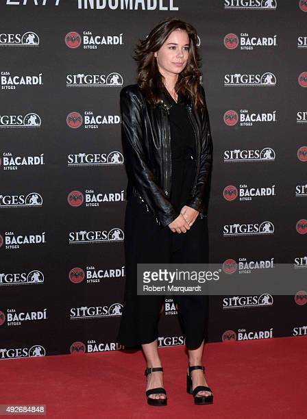 Laia Costa poses during a photocall for the 'Bacardi Sitges Award' at the Casa Barcardi on October 14 2015 in Sitges Spain