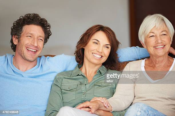 laid-back day with family - mother in law stock pictures, royalty-free photos & images