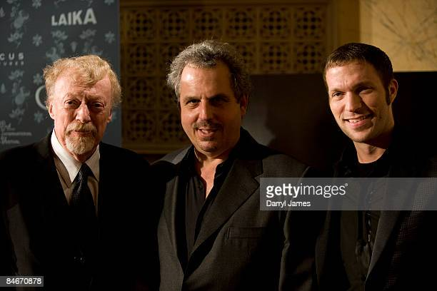 Laika Studio owner Phil Knight producer Bill Mechanic and animator Travis Knight arrive at the premeire of Focus Features' animated feature Coraline...