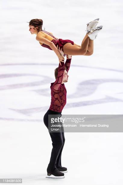 Laiken Lockley and Keenan Prochnow of the United States compete in the Junior Pairs Short Program during day 1 of the ISU World Junior Figure Skating...