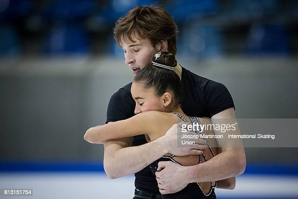 Laiken Lockley and Keenan Prochnow of the United States compete during the Junior Pairs Short Program on day two of the ISU Junior Grand Prix of...
