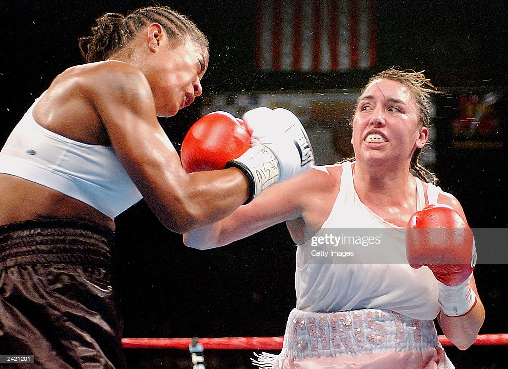 Laila Ali and Christy Martin square off on August 23, 2003 at Mississippi Coast Coliseum in Biloxi, Mississippi. Ali defeated Martin with a 4th round knock out.