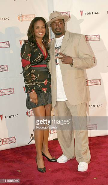 Laila Ali and guest during The Source HipHop Music Awards Red Carpet at Miami Arena in Miami Florida United States