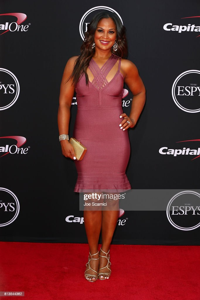 Laila Ali arrives at the 2017 ESPYS at Microsoft Theater on July 12, 2017 in Los Angeles, California.