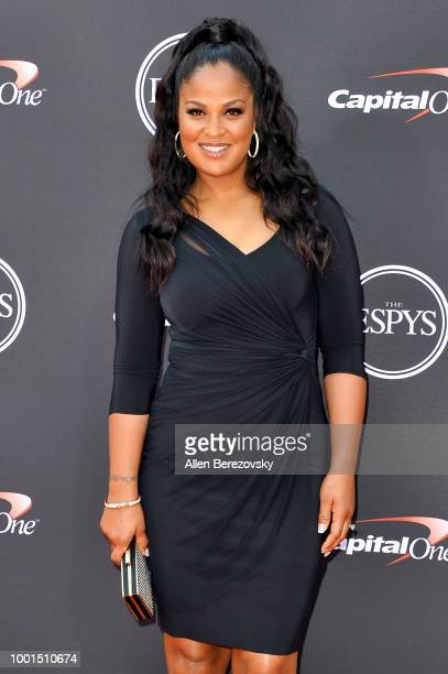 Laila Ali attends The 2018 ESPYS at Microsoft Theater on July 18 2018 in Los Angeles California