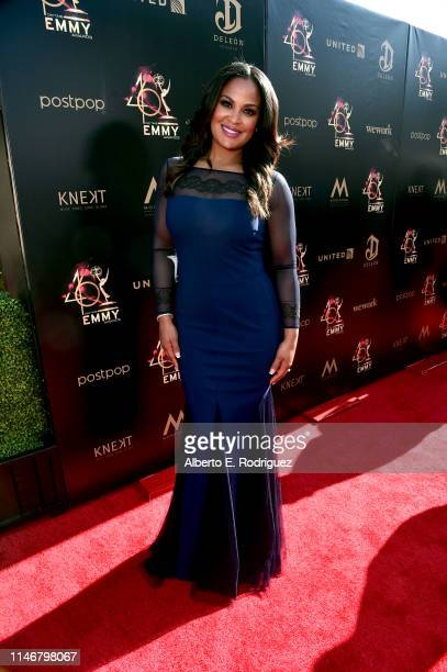 Laila Ali attends the 46th annual Daytime Creative Arts Emmy Awards at Pasadena Civic Center on May 03 2019 in Pasadena California