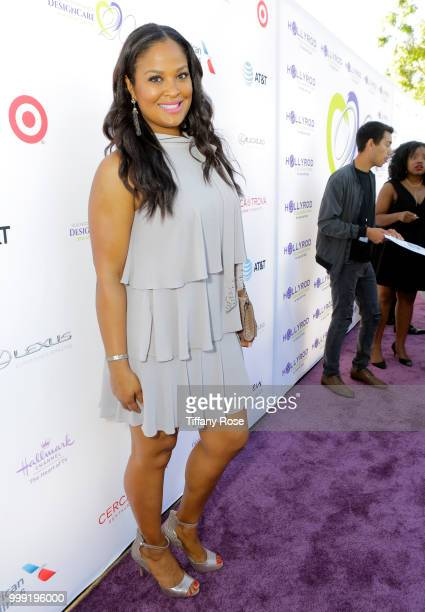 Laila Ali attends the HollyRod 20th Annual DesignCare at Cross Creek Farm on July 14 2018 in Malibu California