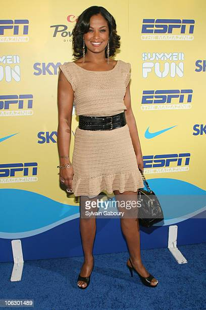 Laila Ali during ESPN Magazine Summer Fun Party - Arrivals at Pier 59 at Chelsea Piers in New York City, New York, United States.