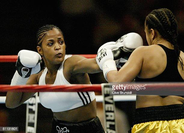 Laila Ali fights Monica Nunez July 30 2004 at Freedom Hall in Louisville Kentucky