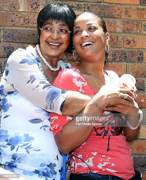 Laila Ali met with Mrs Winnie MadikizelaMandela at her house in Soweto