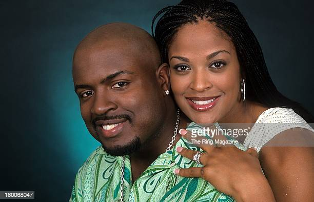 Laila Ali poses for a portrait with her husband Johnny McClain on August 242001 in New York
