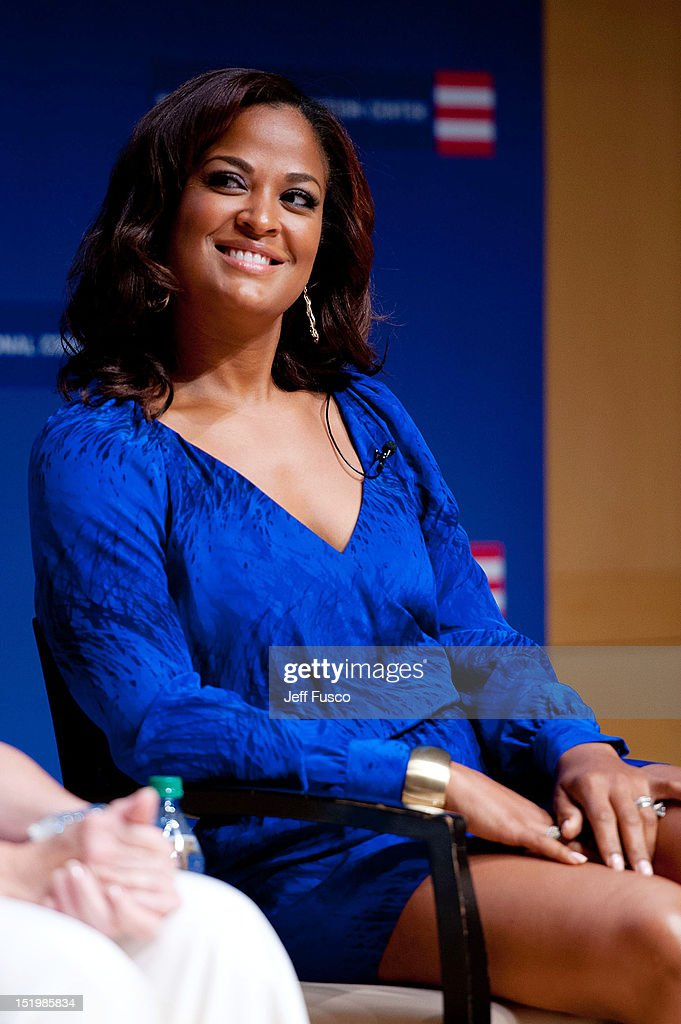 Laila Ali takes part in a panel discussion prior to the 2012 Liberty Medal Ceremony at the National Constitution Center on September 13, 2012 in Philadelphia, Pennsylvania.