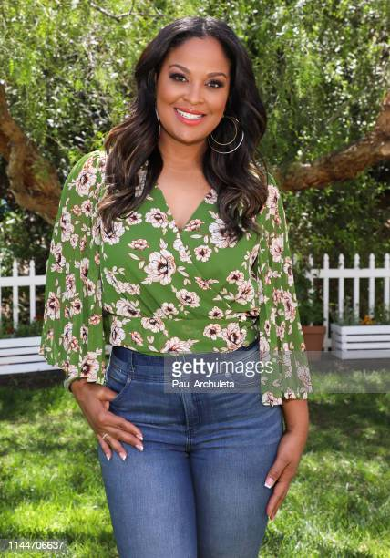 "Laila Ali visits Hallmark's ""Home & Family"" at Universal Studios Hollywood on April 23, 2019 in Universal City, California."
