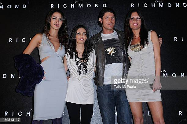 Laila Ben Khalifa Alessandra Moschillo Aldo Montano and Antonella Mosetti attend the John Richmond Autumn/Winter 2012/2013 fashion show as part of...