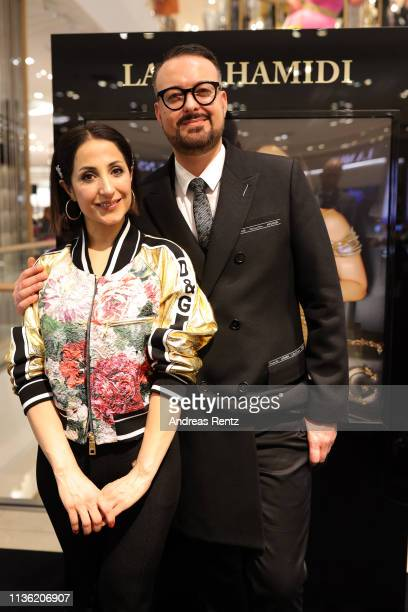 Laila Hamidi and Oliver Christian attend the 'Easy to pack brushes' launch by Laila Hamidi at Breuninger on March 16 2019 in Duesseldorf Germany