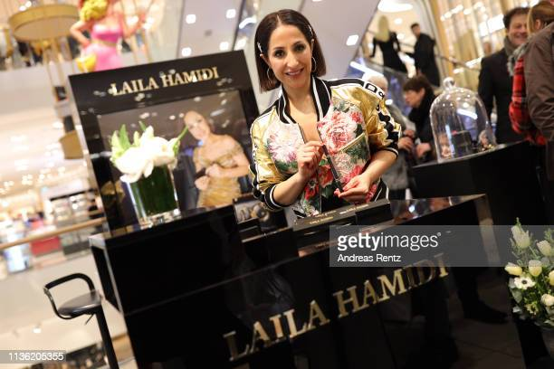 Laila Hamidi poses for a photograph during 'Easy to pack brushes' launch by Laila Hamidi at Breuninger on March 16 2019 in Duesseldorf Germany