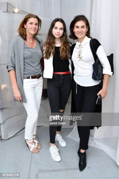 Laila Jabban Annabelle Schlesinger and Natasha Schlesinger attend Rachel Lee Hovnanian 'The Women's Trilogy Project' Park 3 PURE at Leila Heller...