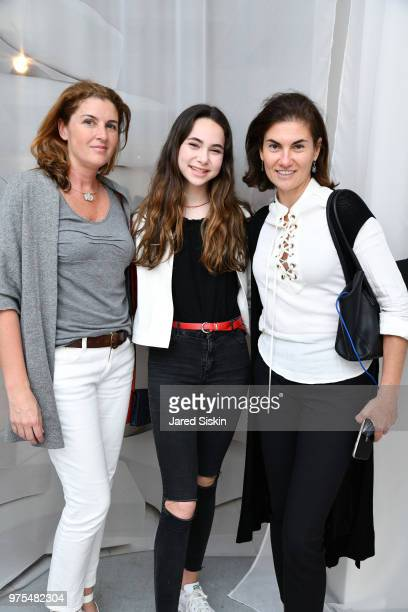 Laila Jabban Annabelle Schlesinger and Natasha Schlesinger attend Rachel Lee Hovnanian 'The Women's Trilogy Project' Park 3 PURE at Leila Heller...