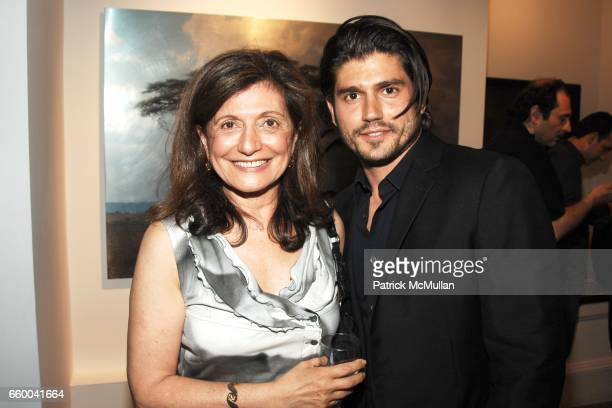 Laila Levitas and Andrew Levitas attend ANDREW LEVITAS works on canvas and steel curated by NEIL GRAYSON at Dactyl Gallery on May 9 2009 in New York...