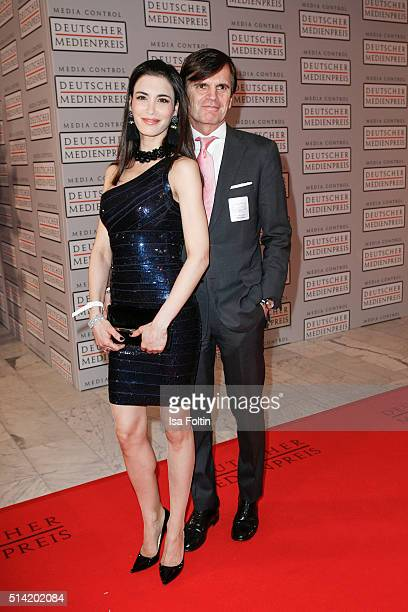 Laila Maria Witt and Alexander Dibelius attend the German Media Award 2016 on March 07 2016 in BadenBaden Germany