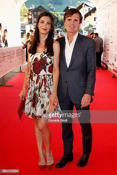 Laila Maria Witt and Alexander Dibelius attend the 'Shadow World' premiere and opening night of the Kitzbuehel Film Festival 2016 at Filmtheater...