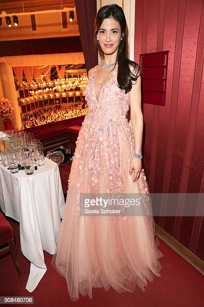 Laila Maria Witt Dibelius during the Opera Ball Vienna 2016 at Vienna State Opera on February 4 2016 in Vienna Austria