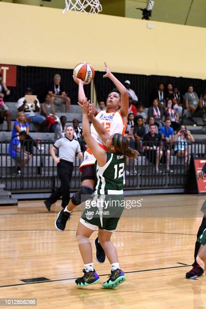 Laila McLeod of South Girls goes to the basket against Midwest Girls during the Jr NBA World Championship on August 7 2018 at the ESPN Wide World of...