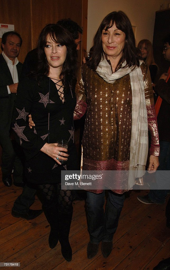 Laila Nabulsi and Anjelica Huston attend the private view of 'Hunter S Thompson: Gonzo' at the Michael Hoppen Gallery February 1, 2007 in London, England.