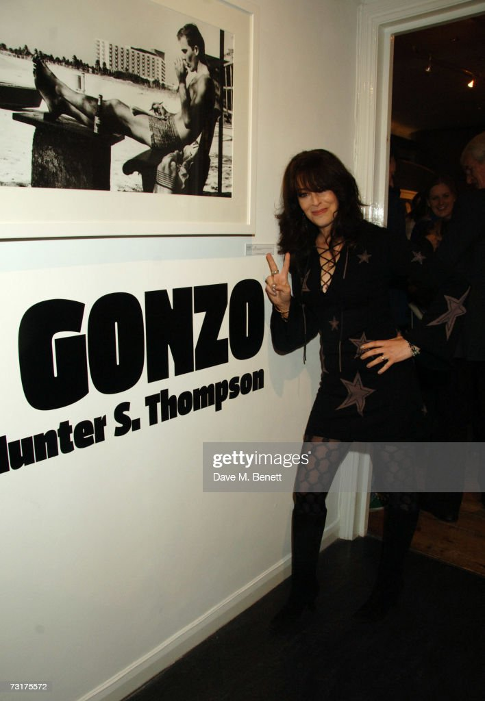 Laila Nabulsi attends the private view of 'Hunter S Thompson: Gonzo' at the Michael Hoppen Gallery February 1, 2007 in London, England.