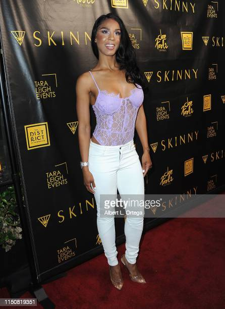 Laila Odom arrives for Donna D'Errico's Celebration of The Launch Of Skinny Cannabis Vape held at The District by Hannah An on June 18 2019 in Los...
