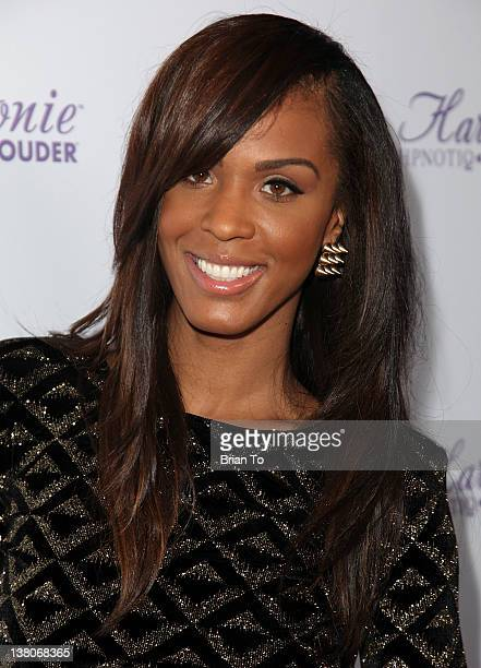 Laila Odom attends Dysfunctional Friends Los Angeles premiere at Harmony Gold Theatre on February 1 2012 in Los Angeles California