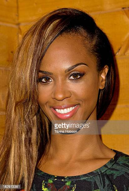 Laila Odom attends the Bounce TV media preview day for the new fall shows 'BRKDWN' and 'My Crazy Roommate' at BunimMurray Studio on October 2 2013 in...