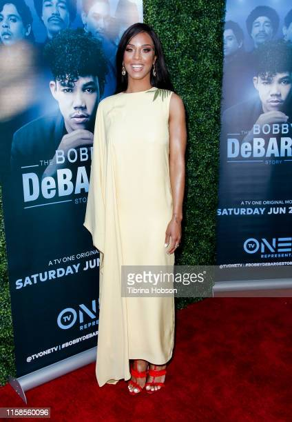 Laila Odom attends the premiere of TV One's 'Bobby DeBarge Story' at Harmony Gold Theatre on June 26 2019 in Los Angeles California