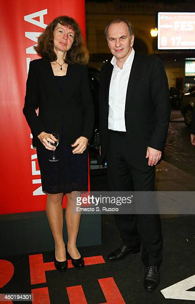 Laila Pakalnina and Aleksei Guskov attend the Award Winners Dinner during the 8th Rome Film Festival at the Hotel Bernini on November 16 2013 in Rome...