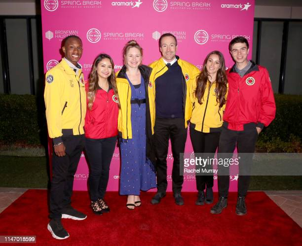 Laina Rose Thyfault and Chris Klein and AmeriCorps members attend City Year Los Angeles' Spring Break Destination Education at Sony Studios on May 04...
