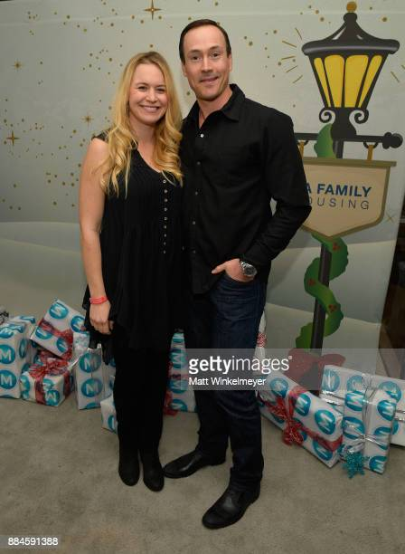 Laina Rose Thyfault and Chris Klein at the 7th Annual Santa's Secret Workshop benefiting LA Family Housing at Andaz on December 2 2017 in West...