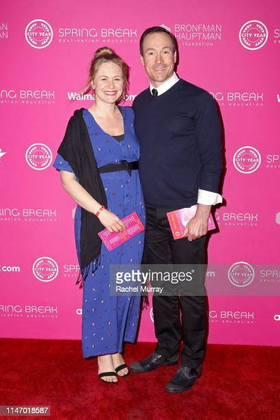 Laina Rose Thyfault and Chris Klein attend City Year Los Angeles' Spring Break Destination Education at Sony Studios on May 04 2019 in Los Angeles...