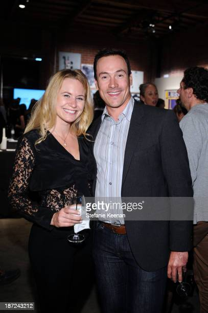 Laina Rose Thyfault and Chris Klein attend LAXART Benefit Auction And Party Presented By Samsung Galaxy on November 6 2013 in Los Angeles California