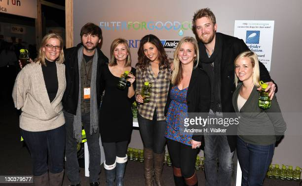 Lainey Canevaro Dave Haywood Lisa Ptak Hillary Scott Fallon O'Connor Charles Kelley and Katie Rosholt with BritaFilterForGood during the 2010...
