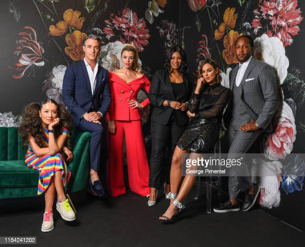 Lainey Lui Ben Mulroney Danielle Graham Traci Melchor Chloe Wilde and Tyrone Edwards pose at the CTV Upfront Portrait Studio at Sony Centre For...