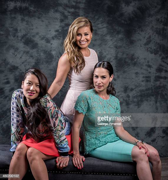 Lainey Lui Melissa Grelo and Cynthia Loust host of the show The Social pose for a portrait during CTV 2014 Upfront at Sony Centre for the Performing...
