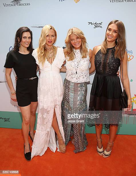 Lainie Strouse Rachel Zoe Lysa Heslov and Jessica Alba attend the Children Mending Hearts and Vintage Grocers Presents the 8th Annual Empathy Rocks...
