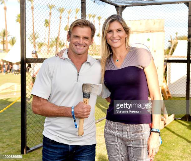 Laird Hamilton and Gabrielle Reece attend Land Rover 4XFAR on January 18 2020 in Palm Springs California