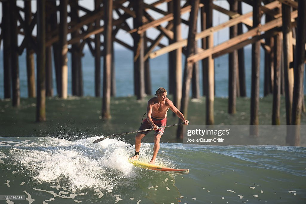 Laird Hamilton is seen in Malibu on August 27, 2014 in Los Angeles, California.