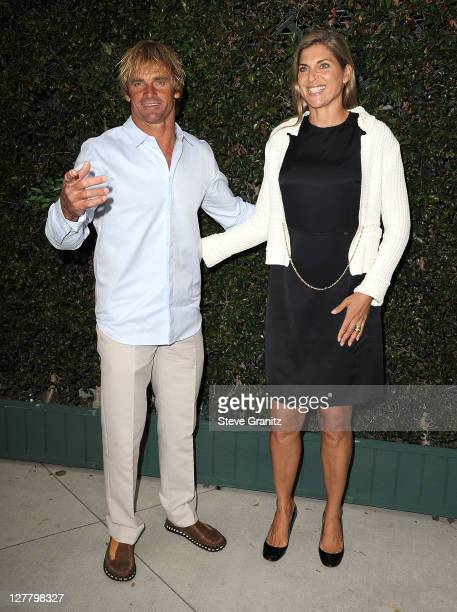 Laird HamiltonGabrielle Reece attends the Natural Resources Defense Council's Ocean Initiative Benefit Hosted By Chanel on June 4 2011 in Malibu...