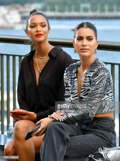 Lais Ribeiro and Camila Coelho attend DUNDAS x REVOLVE NYFW Runway Show Casa Cipriani on September 08, 2021 in New York City.