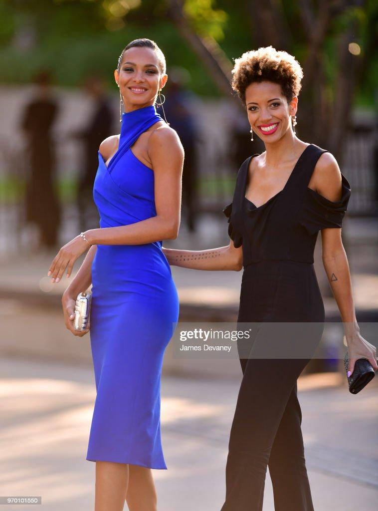 57d0126335e Lais Ribeiro and Carly Cushnie arrive to the 2018 CFDA Fashion ...