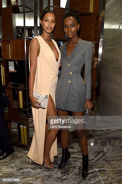 Lais Ribeiro and Herieth Paul attend The Daily Front Row's 4th Annual Fashion Media Awards at Park Hyatt New York on September 8 2016 in New York City