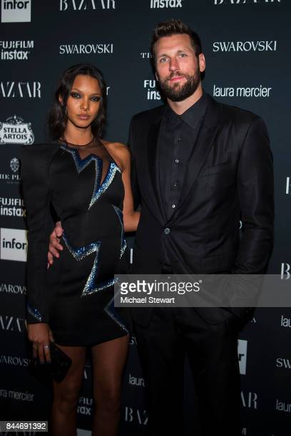 Lais Ribeiro and Jared Homan attend 2017 Harper's Bazaar Icons at The Plaza Hotel on September 8 2017 in New York City